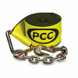 "PCC 4"" x 30 ft Winch Strap - Chain Anchor - 5400 lbs WLL"