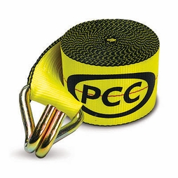 "PCC 4"" x 30 ft Winch Strap - Wire Hook - 5500 lbs WLL"