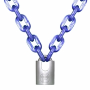 "Peerless 7/16"" (11mm) Hex Security Chain Kit - 2 ft Chain & Padlock"