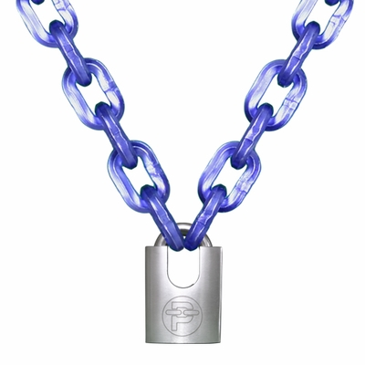 "Peerless 7/16"" (11mm) Hex Security Chain Kit - 3 ft Chain & Padlock"