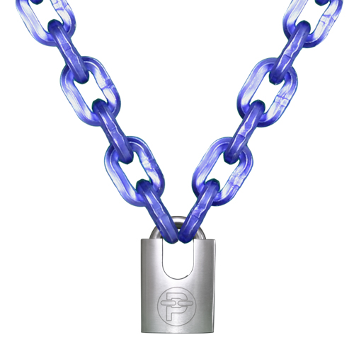 "Peerless 7/16"" (11mm) Hex Security Chain Kit - 6 ft Chain & Padlock"