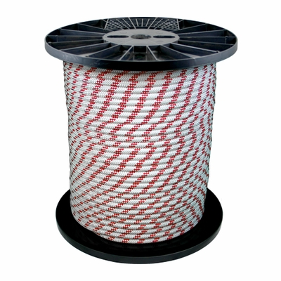 "Pelican 7/16"" x 600 ft White Static Master Kernmantle Rappelling Rope - 7047 lbs Breaking Strength"