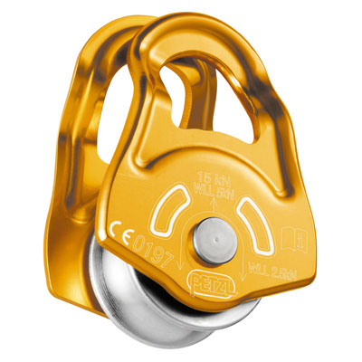 """Petzl Mobile Micro Pulley - 1/2"""" Rope - #P03A"""