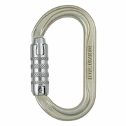 Petzl Oxan Oval Steel Carabiner - Triple-Locking