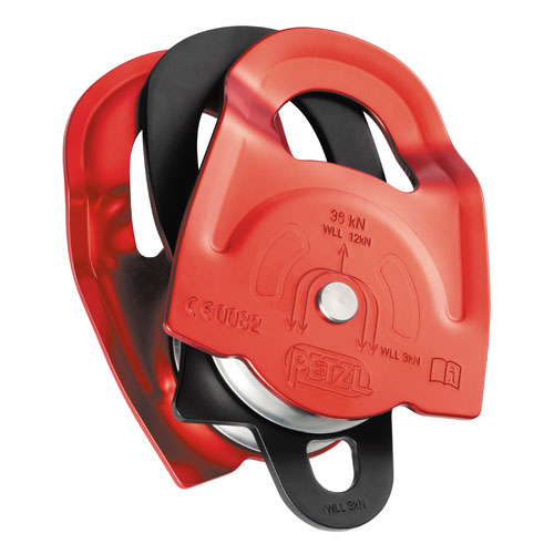 "Petzl Twin Double Sheave Pulley - 1/2"" Rope - #P65A"