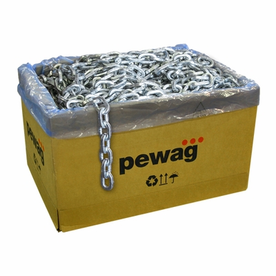 """Pewag 1/2"""" x 50 ft Galvanized Square Security Chain"""