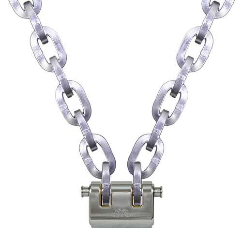 "Pewag 3/8"" (10mm) Security Chain Kit - 10 ft Chain & Viro Padlock"