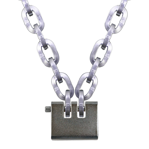 """Pewag 3/8"""" (10mm) Security Chain Kit - 20 ft Chain & Laclede Padlock"""