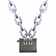 "Pewag 3/8"" (10mm) Security Chain Kit - 5 ft Chain & Laclede Padlock"