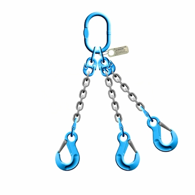 """Pewag 3/8"""" x 5 ft Type TOS 3-Leg Grade 120 Chain Sling - 27500 lbs WLL"""