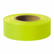 "Presco 1-3/16"" x 150 ft Lime Glo Taffeta Roll Flagging"