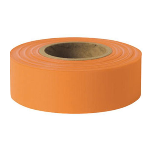 "Presco 1-3/16"" x 300 ft Orange Taffeta Roll Flagging"