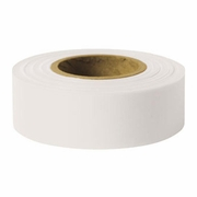"Presco 1-3/16"" x 300 ft White Taffeta Roll Flagging"