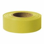"Presco 1-3/16"" x 300 ft Yellow Taffeta Roll Flagging"