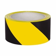 "Presco 2"" x 108 ft Yellow / Black Aisle Marking Tape"