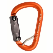 Rock Exotica Pirate Aluminum Carabiner w/ Wire - Triple-Locking