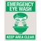 "Safety Sign - ""Emergency Eye Wash"""