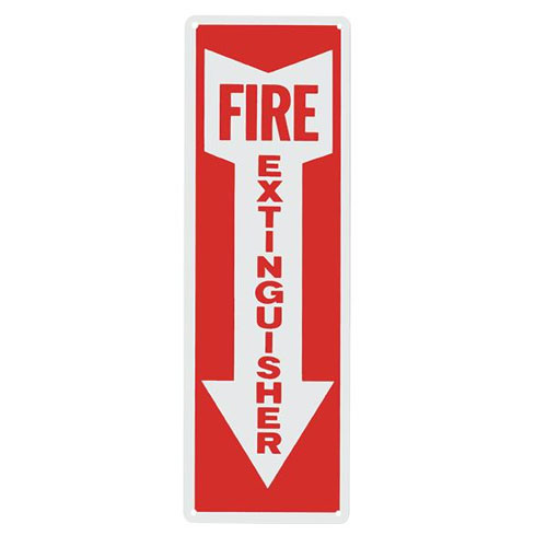 "Safety Sign - ""Fire Extinguisher w/ Arrow"""