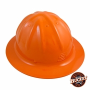 Skull Bucket Aluminum Full Brim Hard Hat - Hi-Vis Orange