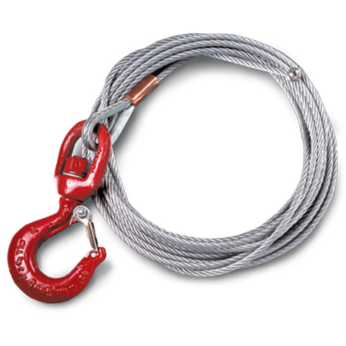 """Thern 1/4"""" x 28 ft Winch Cable - Galvanized - 7000 lbs Breaking Strength - #WA25-28NS"""
