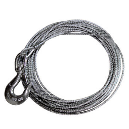 "Thern 1/4"" x 28 ft Winch Cable - Stainless - 6400 lbs Breaking Strength - #WS25-28NE"