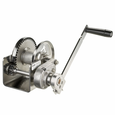 Thern Spur Gear Hand Winch w/ Brake - 1000 lbs Lifting Capacity - Stainless Steel
