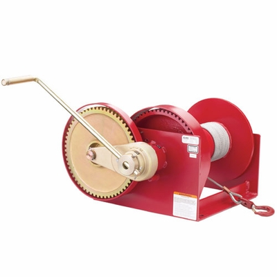 Thern Spur Gear Hand Winch w/ Brake - 10000 lbs Lifting Capacity