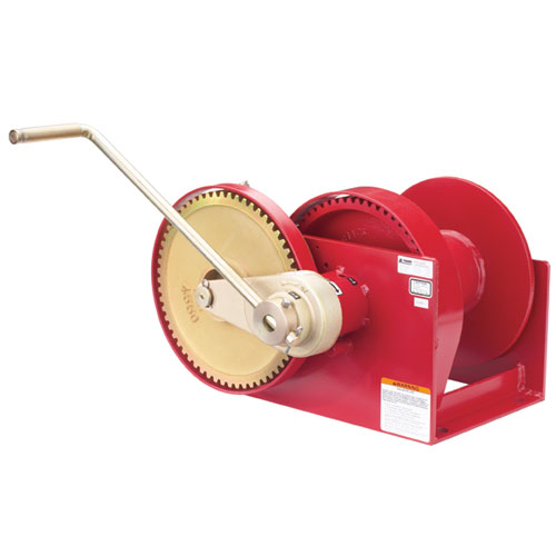 Thern Spur Gear Hand Winch w/ Brake - 10000 lbs Lifting Capacity - #M492B