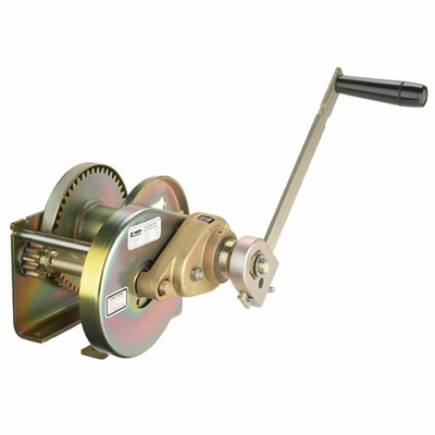 Thern Spur Gear Hand Winch w/ Brake - 2000 lbs Lifting Capacity