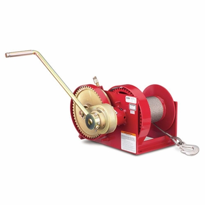 Thern Spur Gear Hand Winch w/ Brake - 4000 lbs Lifting Capacity