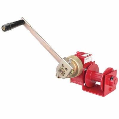 Thern Worm Gear Hand Winch w/ Brake - 1000 lbs Lifting Capacity