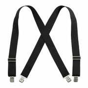 "Welch 2"" x 46"" X-Back Logger Suspenders w/ Clips - Black"