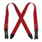 "Welch 2"" x 46"" X-Back Logger Suspenders w/ Leather Ends - Red"