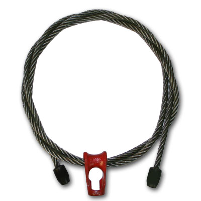 "3/8"" x 10 ft Logging Choker - Nub & Nub Skidding-Style - 11000 lbs Breaking Strength"