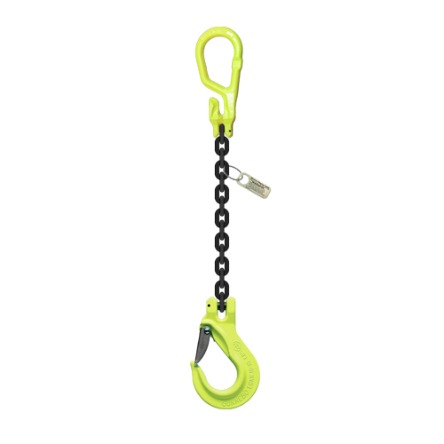 "5/16"" x 5 ft Type MGS GrabiQ Adjustable Single Leg Grade 100 Chain Sling - 5700 lbs WLL"
