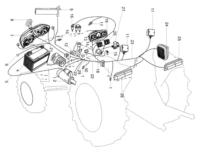 ELECTRICAL PARTS FOR 2525/ES-25 MAHINDRA TRACTOR on