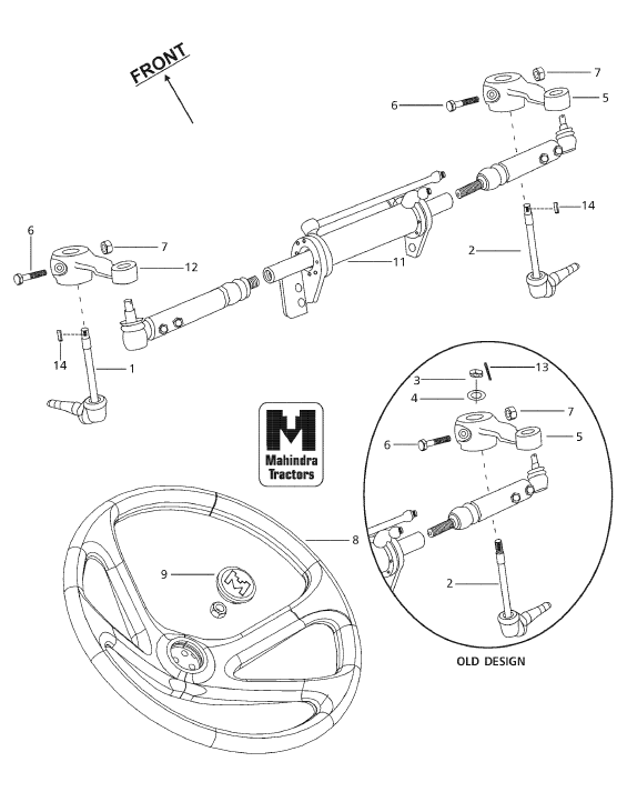 Steering Front Axle Parts For 6000 2 Wheel Mahindra Tractor