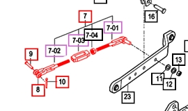 CHAIN STABILIZER ASSEMBLY FOR 2538 MAHINDRA  TRACTOR (16705142501)