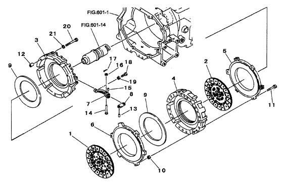 clutch parts for 2615 mahindra tractor