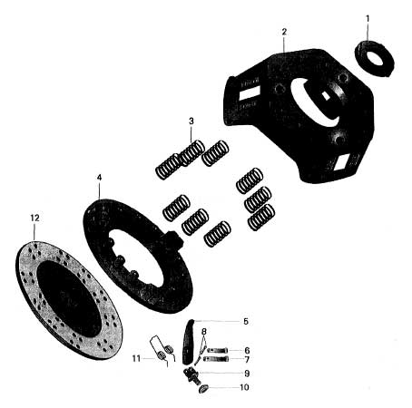 CLUTCH DISC FOR SINGLE STAGE 475 MAHINDRA TRACTOR