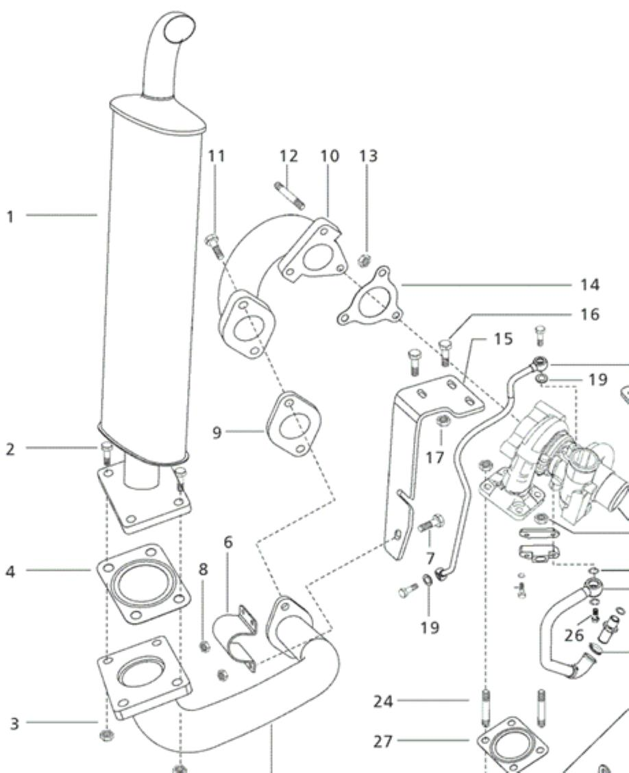 Exhaust Parts For 6530 Mahindra Tractor