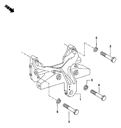 FRONT AXLE SUPPORT FOR 3505 MAHINDRA TRACTOR