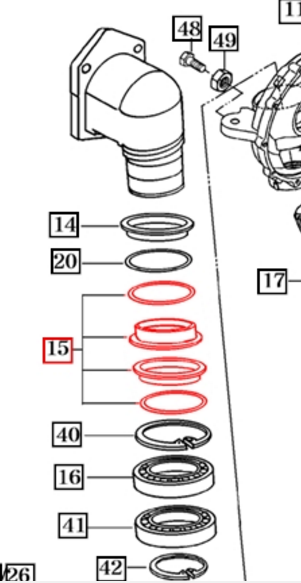 FRONT SEAL ASSEMBLY FOR 2540 MAHINDRA TRACTOR (16704340040)