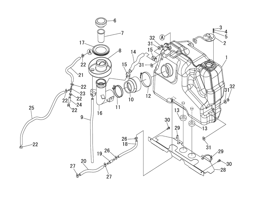 fuel system parts for 3016 mahindra tractor