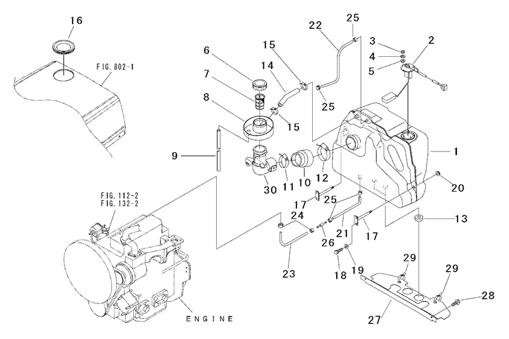 fuel system parts for 2815 mahindra tractor