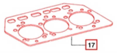 GASKET FOR CYLINDER HEAD ON 475 MAHINDRA TRACTOR