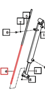 GUIDE ROD FOR LOADER ON 2538 MAHINDRA TRACTOR (85903000110)