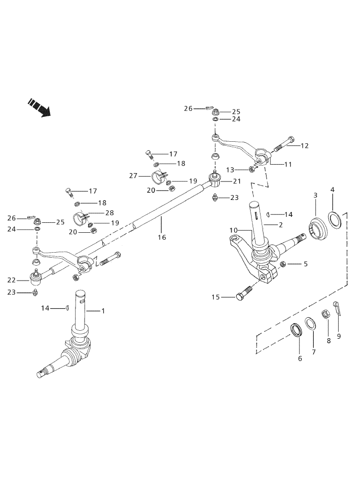 steering \u0026 front axle parts for 3525 mahindra tractor
