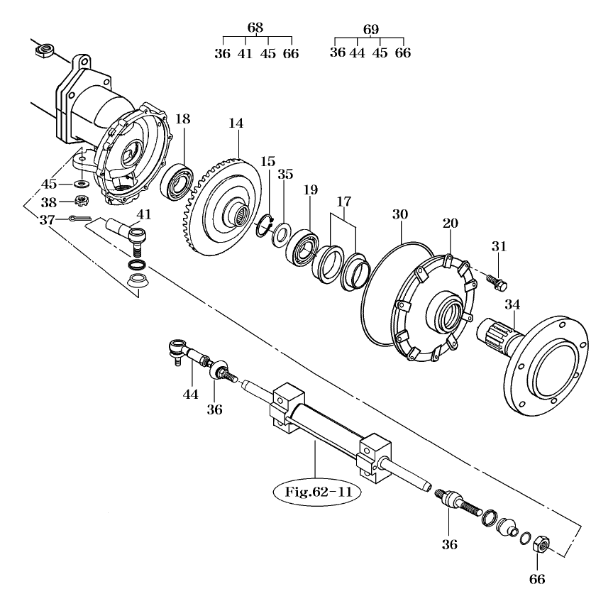 STEERING & FRONT AXLE PARTS FOR 2810 MAHINDRA TRACTOR