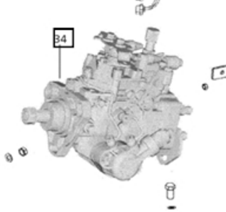 ROTARY FUEL INJECTOR PUMP FOR 7520 MAHINDRA TRACTOR